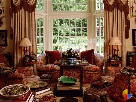 深色欧式布艺沙发