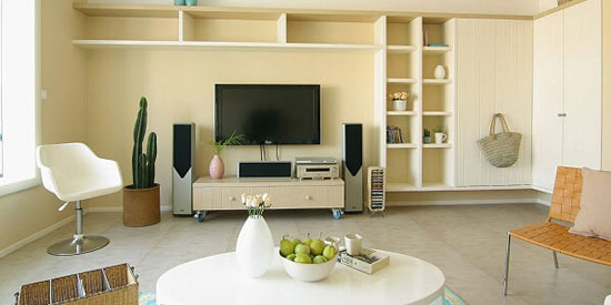 八大法寶打造客廳個性電視背景墻