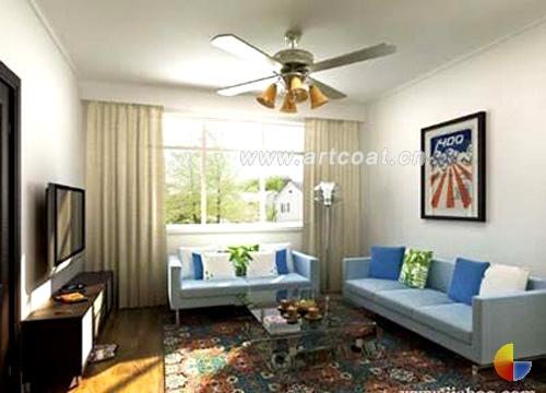 波普风格新装修 都市里的心灵净地  客厅装修设计