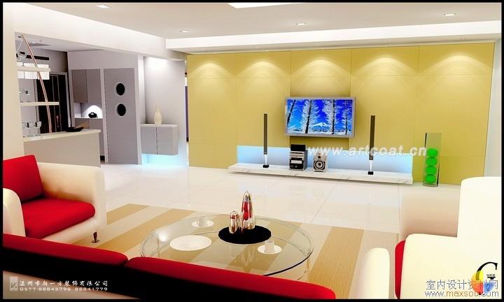 样板间:客厅装修效果图--影视墙  客厅装修设计