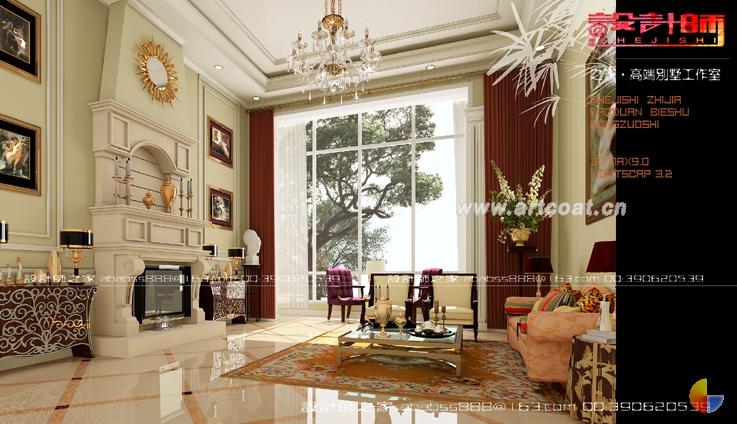 欧式别墅装修效果图  别墅装修设计  公装设计  中国