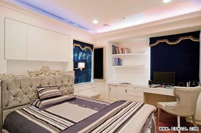 主卧天花板墙包欧式效果图
