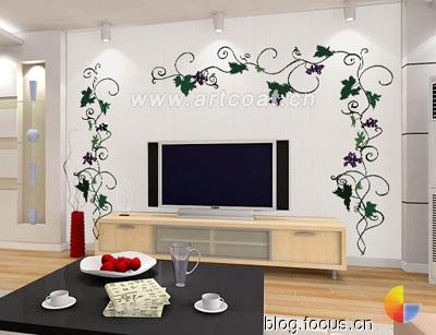 """手绘墙画让家走进""""我""""时代  装饰设计  设计师专版"""