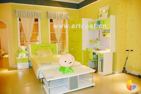 儿童家居  卧室装修设计  家装设计  中国艺术涂料网