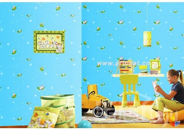 以卡通人物,动物,玩具为形象表现,或以童话故事,卡通剧意境为墙纸主题