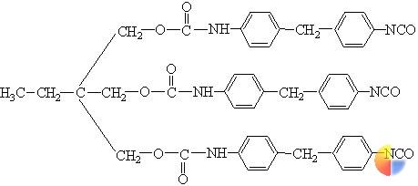图1mdi与tmp固化剂结构示意图