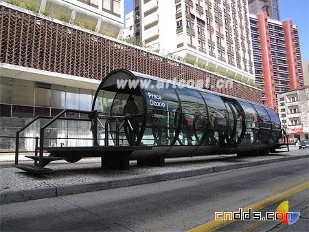 一组极富创意的公交车站设计