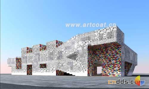 韩文构筑的抽象建筑  建筑艺术  设计师专版  中国