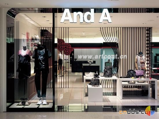 日本服装店设计  商场装修设计  公装设计  中国艺术