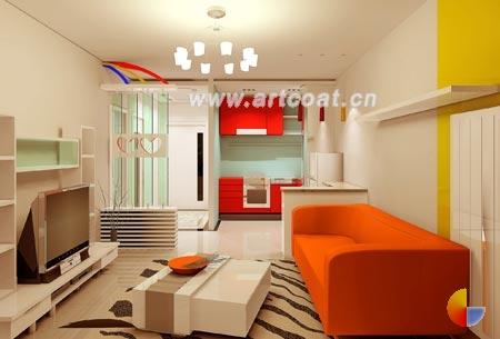 小户型客厅简约电视背景墙装饰效果图