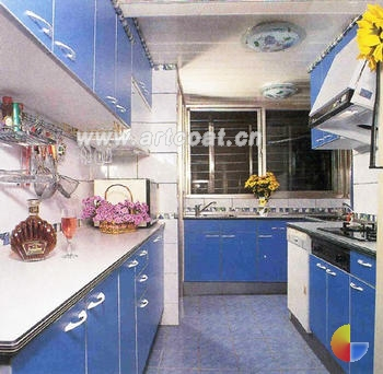 绿色地板欧式厨房装修