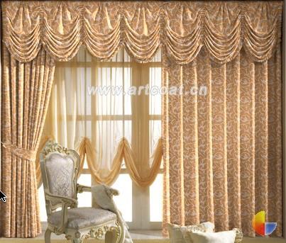 田园型窗帘   欧式风格的窗帘,多选用