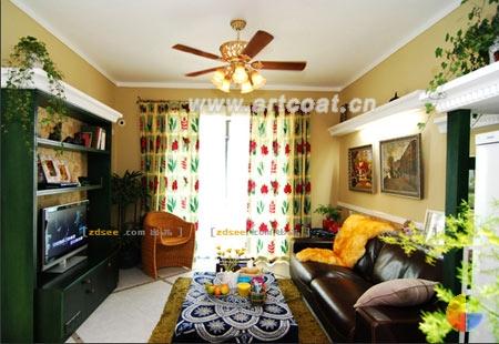 墨绿色的家具,有点复古