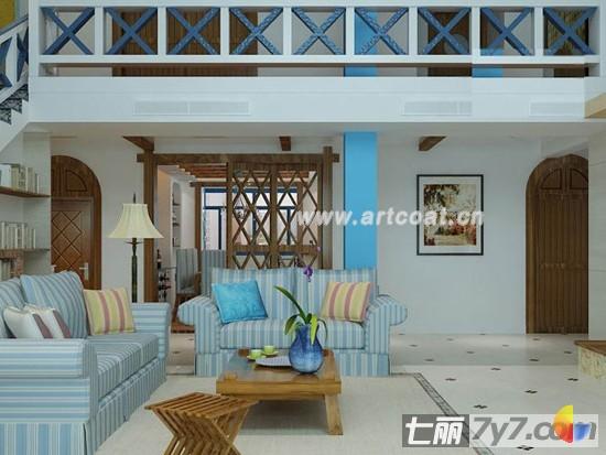 装饰风格 地中海风格 打造现代地中海情别墅     以 地中海 装修风格